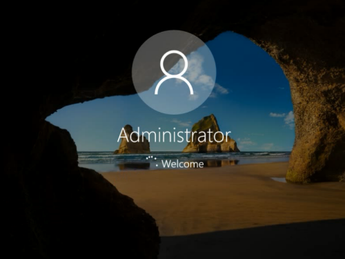 login Windows 10 administrator without password