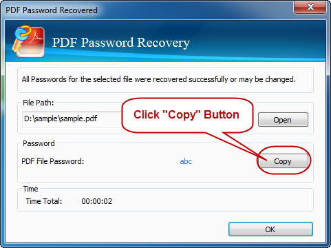 Success recover rar password
