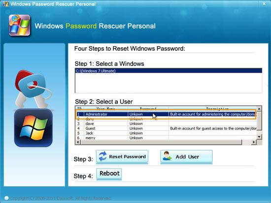 windows 7 forgot login password