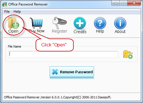 Open the lost excel password file