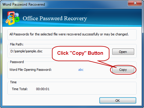 Success recover excel Password